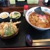 悦中庵のラーメンとミニ天丼セット