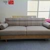 布張りでチェック柄がカワイイ、収納スペース付きのソファベッドのご紹介です。