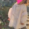 大人のシャツをリメイクして1歳のワンピース