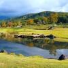 月山弓張平公園の池(山形県西川)