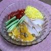 「流水麺」でパワーサラダ風冷やし中華