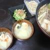 肉豆腐、白菜漬け、じゃこ大豆、味噌汁