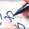 【動画投稿しました】イスラム文様とモザイクのぬり絵ブックを水性ペン3色で塗ってみた。