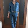 大人女性のデニム・オン・デニム|リーバイスのプレミアムラインジーンズで上品コーデ