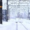 雪のローカル線 秋田県 美郷町 飯詰駅