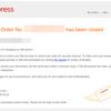 AliExpressでBTCデビットカードを使ってみたらSecurity Reasonsでクローズされた件