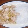 鶏肉と長ネギのゴママヨ炒め(68)ヘルシオホットクックで自炊
