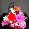 #50 プリザーブド グランドピアノの花器に生ける『メロディ』