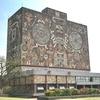 メキシコシティ 「メキシコ国立自治大学」 世界遺産キャンパス 巨大立体壁画を鑑賞