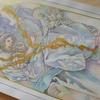 完成】ペールトーンで『スラヴ叙事詩展』ポスターを塗ってみました☆ミュシャぬりえファンタジーより