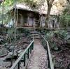 東灘区岡本の八幡谷。『謎の木魚の祠』と『崖に佇む道祖神』と『廃墟化した神社』を探訪【兵庫県神戸市東灘区】