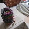 編み物を始めた。
