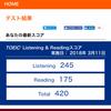 3月11日のTOEICの結果-中卒からのTOEIC挑戦記録