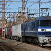 貨物列車撮影 1/27 新塗装の桃108号機を撮る