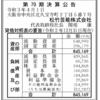 松竹芸能株式会社 第70期決算公告