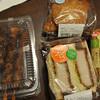 今年の正月はローソンを利用してみた(2)、タルタルフィッシュバーガー、やきそばパン、炭火焼鳥(ももタレ、もも塩、かわタレ、つくねタレ)