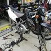 KLX125 (タイヤ交換など)