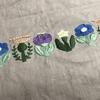 樋口愉美子さんの【刺繍とがま口】花壇の図柄を使って