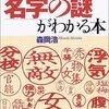 漢字一文字の苗字、漢字三文字の姓で多いランキング