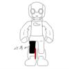 ロビ2組み立て 第25号 右ひざ関節 結構複雑!