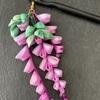 つまみ細工  藤の花を作る