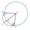 第3巻命題2 円周上の二点を結ぶ線分