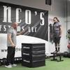 デプスジャンプ(デプスジャンプはプライオメトリックエクササイズの1種目で、筋や腱にエネルギーを蓄えるために、特に位置エネルギーと重力を利用する運動になる)
