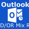 Outlookの振り分けルールでAND/OR条件を組み合わせる