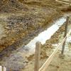 工事初日:基礎部分の粘土層