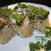 オイルサーディンとパセリの押し寿司