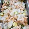 鶏肉、大根、ズッキーニの花椒煮