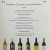 Degustation de vins de Bordeaux, janvier 2018