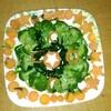 息子の作ったサラダ
