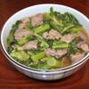 菜花と鶏レバーの煮物