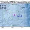 2017年08月21日 19時57分 八丈島東方沖でM4.3の地震