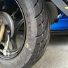 ジョルノの後輪タイヤを DUNLOP RUNSCOOT D307 に交換した