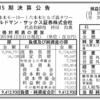 ゴールドマン・サックス証券株式会社 第15期決算公告