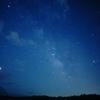 精進湖で星空撮影