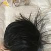 息子の髪の毛