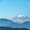高尾山から富士山を眺めた