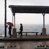 愛媛 予讃線 下灘駅 おとずれた時は雨でした