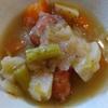 根菜ソーセージスープ