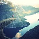 崖の先は絶景