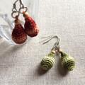 編み図|刺繍糸で編むかぎ編みアクセサリーピアスの作り方