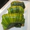 めはり寿司風、外側葉っぱのレタスのガーリック&ドライトマトのお寿司
