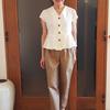 白シャツ・白ブラウスはデザイン性が高いプチプラを短期集中で着る