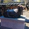 天神様の臥牛像