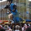 造り物で有名な鶴来の「ほうらい祭り」は獅子方もカッコイイ