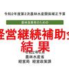 経営継続補助金2次募集の採択通知が公表!