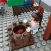 ダイヤブロックで胡椒餅屋さんを作ったよ!